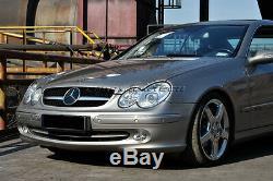 03-09 Mercedes W209 CLK BLK/ CHROME GRILL CLK270 CLK320 CLK350 CLK55 CLK65 AMG