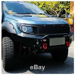 11-15 Ford Ranger T6 Raptor Matte Black Grille 3 Amber Led Xlt Px Ute Wildtrak