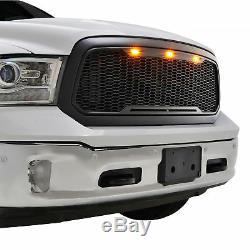 2013 2014 2015 2016 2017 2018 Dodge Ram 1500 Raptor Style Grille Matte Black Led
