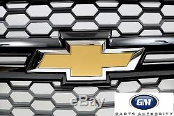 2014-2015 Chevrolet Silverado 1500 Front Grille 23235956 Gloss Black with Blk Mesh