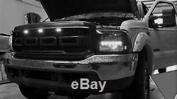 99-04 Raptor Style Grille For 99-04 Ford F250 F350 Super Duty Matte Black