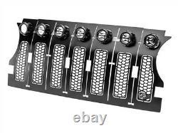 AFe 79-21004L Scorpion Insert Grille BLK with LED 18-21 Jeep Wrangler (JL)