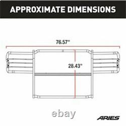 Aries 1.5 Grille Guard Kit CS SG BLK for Chevy Silverado 2500/3500 99-02