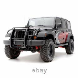 Aries 1.5 Grille Guard Kit CS SG BLK for Jeep Wrangler JK 07-18 witho HL Cage