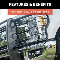 Aries 1.5 Grille Guard Kit Carbon Steel SG BLK for Chevy Silverado 1500 14-19