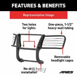 Aries 1.5 Grille Guard Kit Carbon Steel SG BLK for Jeep Grand Cherokee 05-10