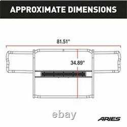 Aries Pro 1.5 Grille Guard Kit Carbon Steel Texture BLK for Ford F150 15-20