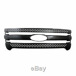 BLACK 2011-2015 Ford Explorer Snap On Grille Overlay Full Front Grill Covers New