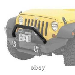 Bestop HighRock 4X4 Tubular Grill Guard Satin Blk for Jeep Wrangler/Unlim 07-16