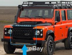 Black Adventure edition style front grille for Land Rover Defender adventura SVX