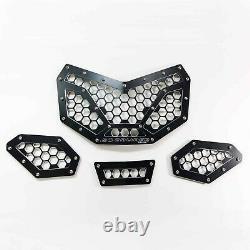 Black Custom Billet Grill 4 Piece Can Am X3 2 and 4 Seat Models 2017+ SXS UTV
