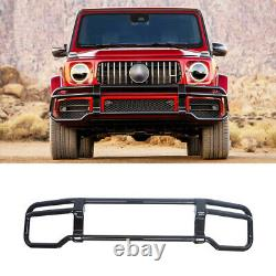 Black Front Grille Guard For Mercedes Benz W464 G63 2019+ G class BULL BAR AMG