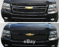 Black Horse 2007-2012 Chevrolet Tahoe Overlay Grille Trims Gloss Black