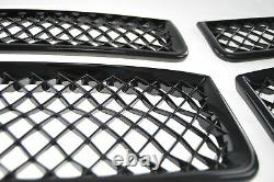 Black Horse 2011-2014 Dodge Charger Overlay Grille Trims Gloss Black