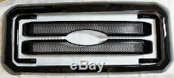Black Horse 2011-2016 Ford F-450 Overlay Grille Trims Gloss Black