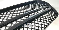 Black Horse 2014-2019 Dodge Durango Overlay Grille Trims Gloss Black