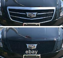 Black Horse 2015-2018 Cadillac ATS Overlay Grille Trims Gloss Black