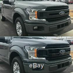 Black Horse 2018-2019 Ford F-150 Overlay Grille Trims Gloss Black
