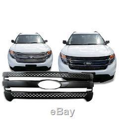 Black Trim / Grille Overlay for 2011 2012 2013 2014 2015 Ford Explorer