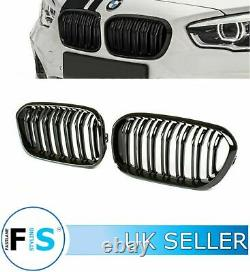 Bmw 1 Series F20 F21 M Performance Style Front Grille & Splitter Gloss Blk 15-19