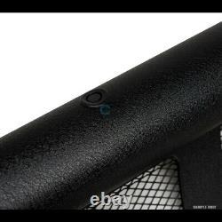 Fit 01-04 Frontier/Xterra Textured Blk Studded Mesh Bull Bar Bumper Grille Guard