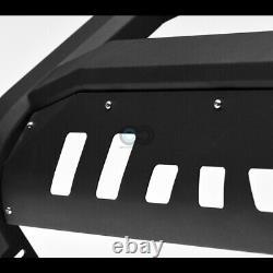 Fit 02-09 GMC Envoy Denali Matte Blk AVT Bold Bull Bar Brush Bumper Grille Guard