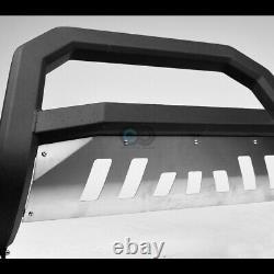 Fit 02-09 Trailblazer/Envoy Matte Blk/Skid AVT Bold Bull Bar Bumper Grille Guard