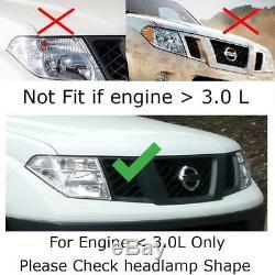 Fit 05-13 Nissan D40 Navara Front grille ABS Black Pickup Truck Hammer H1 Chrome