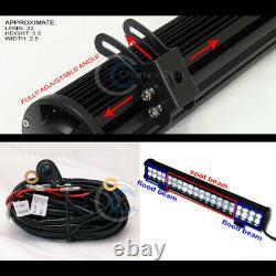 Fit 05-15 Toyota Tacoma Blk Bull Bar Bumper Grille Guard+120W LED Fog Light