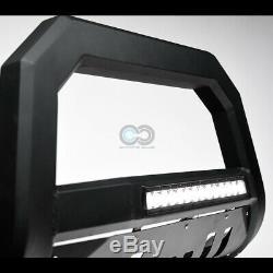 Fit 05-19 Frontier/Xterra Matte Blk AVT Aluminum LED Light Bull Bar Grille Guard