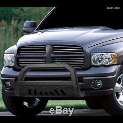 Fit 11-19 Silverado/Sierra 2500/3500 Textured Blk AVT Bold Bull Bar Grille Guard