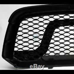 Fit 13-18 Dodge Ram 1500 Blk Rebel Style Honeycomb Mesh Front Hood Bumper Grille