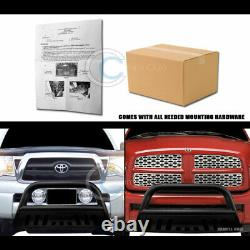 Fit 99-04 Ford F250/F350 Superduty/00+ Excursion Matte Blk Bull Bar Grille Guard