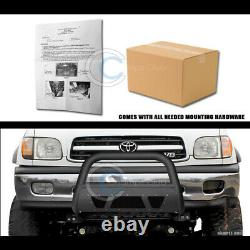 Fit 99-06 Toyota Tundra/01+ Sequoia Matte Blk Studded Mesh Bull Bar Grille Guard