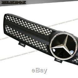 Fit BENZ 05-08 W219 CLS-Sedan Front Bumper Grille- Matte Black B-SL DMK1 Look