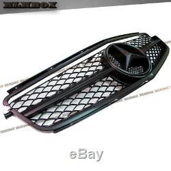 Fit BENZ 08-11 W204 C63AMG Sedan Front Bumper Grille Set-Matte Black B-Mesh Look