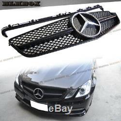 Fit BENZ 10-13 W207 E-COUPE Front Bumper Grille Dark Matte Black B-CS Look