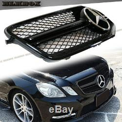 Fit BENZ 10-13 W212 E-Sedan Front Bumper Replace Grille- Glossy Black BLK2 Look