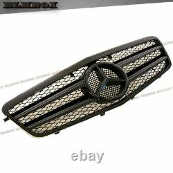 Fit BENZ 10-13 W212 E-Sedan Front Bumper Replaced Grille- All Gloss Black A Look