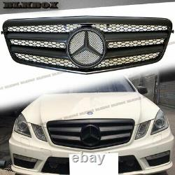 Fit BENZ 10-13 W212 E-Sedan Front Bumper Replaced Grille- All Matte Black A Look