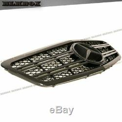 Fit BENZ 10-13 W221 S-Sedan Front Bumper Replaced Grille- All Shiny Black A Look