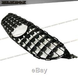 Fit BENZ 2015 2016 2017 2018 W205 C-CLASS GT Front Grille ALL GLOSS BLACK NEW