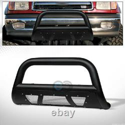 Fits 00-06 Toyota Tundra/Sequoia Textured Blk Studded Mesh Bull Bar Grille Guard