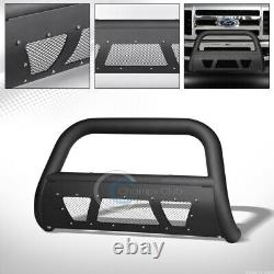 Fits 08-10 Ford F250/F350 Superduty Matte Blk Studded Mesh Bull Bar Grille Guard
