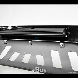 Fits 09-18 Dodge Ram 1500 Matte Blk AVT Aluminum LED Light Bull Bar Grille Guard