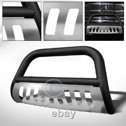 Fits 10-18 Dodge Ram 2500/3500 Matte Blk/Skid Bull Bar Brush Bumper Grille Guard