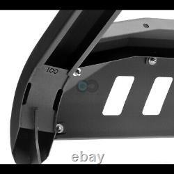 Fits 11-19 Silverado/Sierra 2500/3500 Matte Blk AVT Bull Bar Bumper Grille Guard