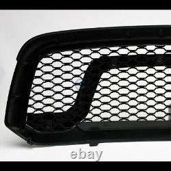 Fits 13-18 Dodge Ram 1500 Matte Blk Rebel Style Honeycomb Mesh Front Hood Grille