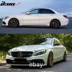 Fits 15-16 W205 C63 Style Full PDC Front +Rear Bumper+Side Skirts