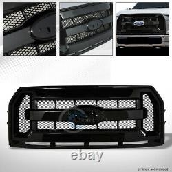 Fits 15-17 Ford F150 Glossy Blk OE Honeycomb Mesh Front Hood Bumper Grill Grille